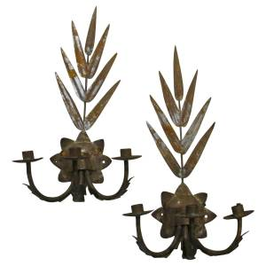 Old Mexican Tin Sconces