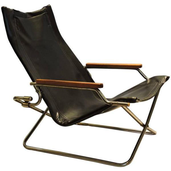 Japanese Modernist Folding Chair by Uchida
