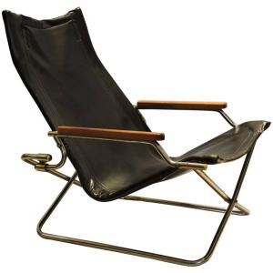 Japanese Modernist Folding Chair by Uchida