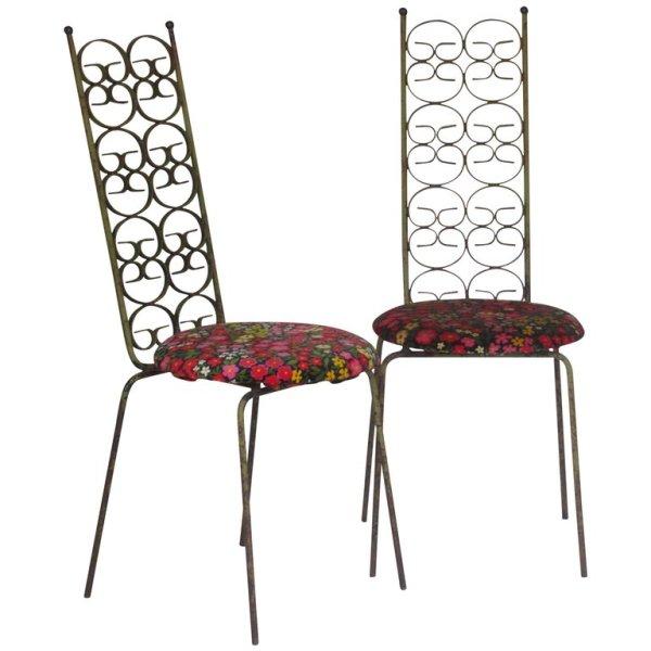 Arthur Umanoff Iron Chairs