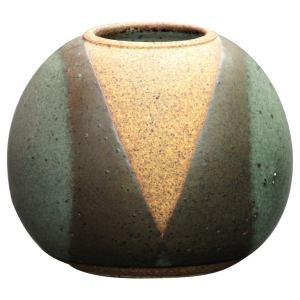 Polychrome Glazed Spherical Stoneware Vase by Val Cushing