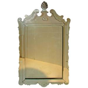 1960's Neoclassical Venetian Glass Mirror