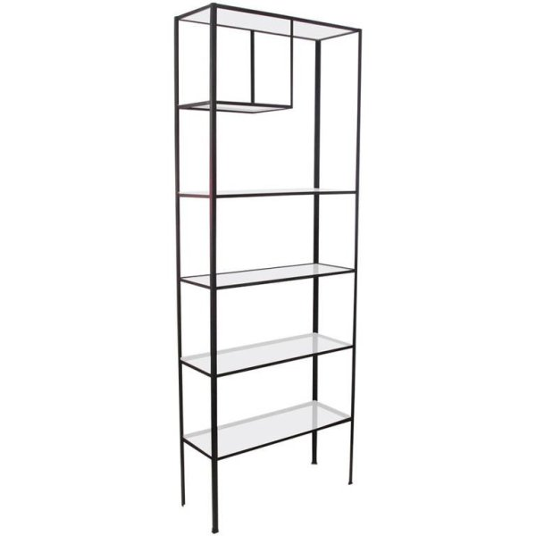 Modernist Iron Shelving Unit