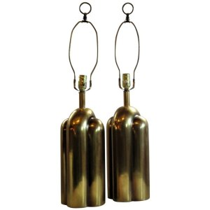 Art Deco Style Brass Lamps - Westwood Industries