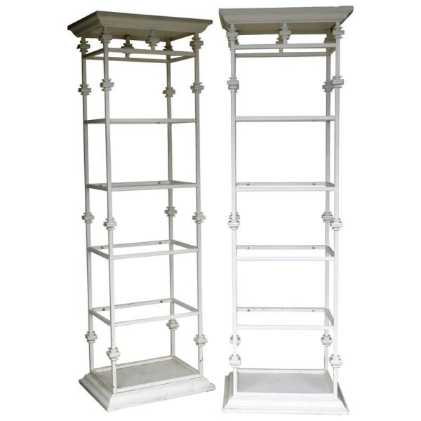 Classical Iron & Faux Wood Etageres
