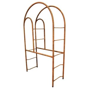 Natural Wicker Wrapped Steel Etagere style of Milo Baughman
