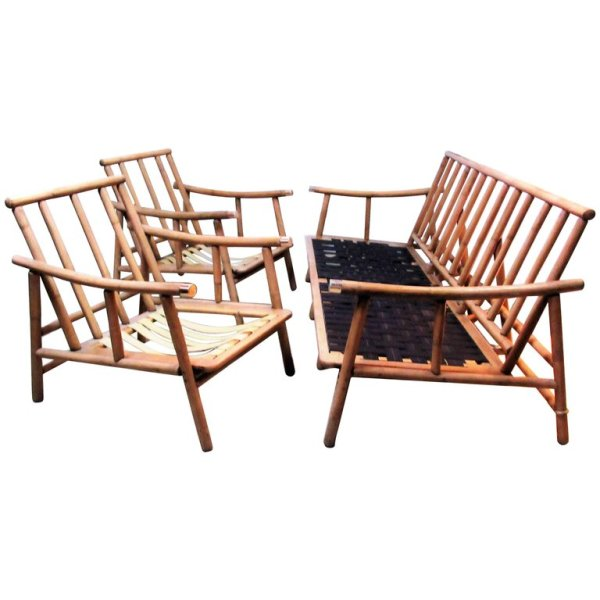 Ficks Reed Sofa and Chairs by John Wisner