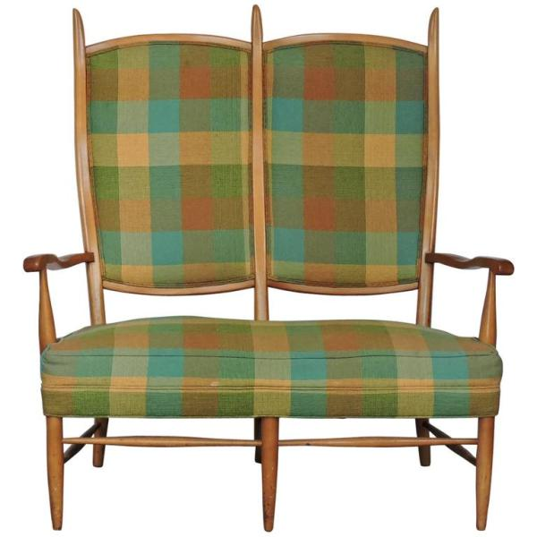 Edward Wormley Attributed Two Seat Settee