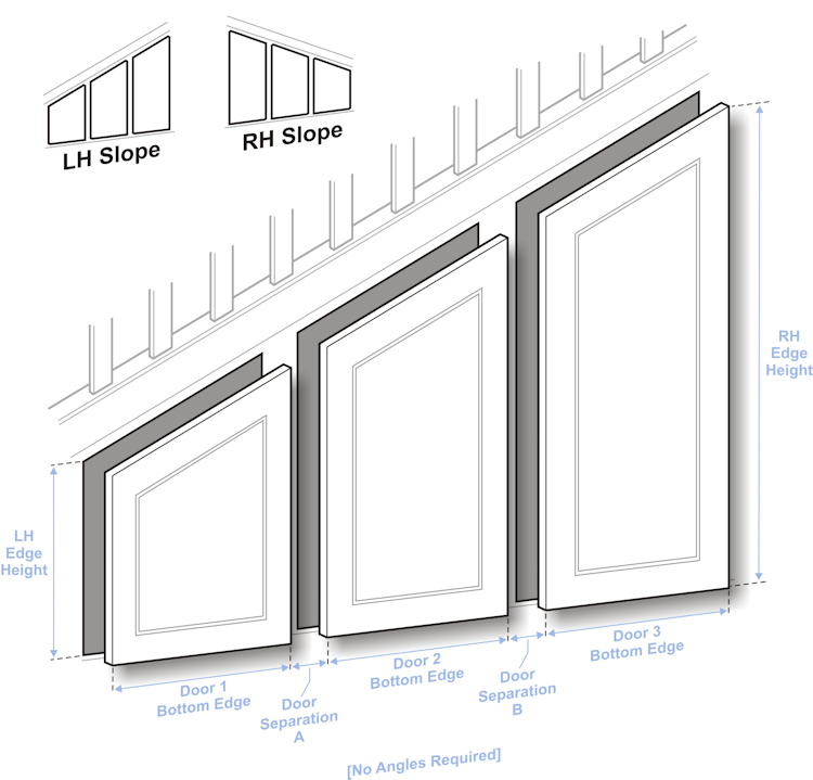 doors to size angled