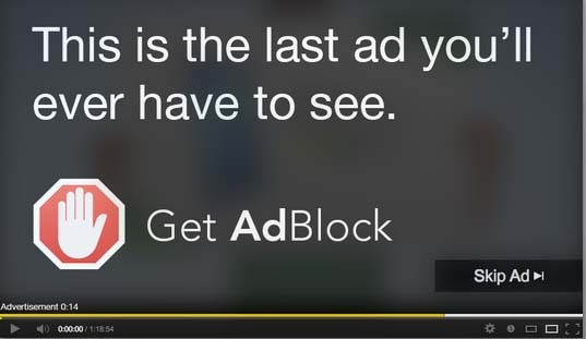 this is last ad you'll ever have to see Get AdBlock