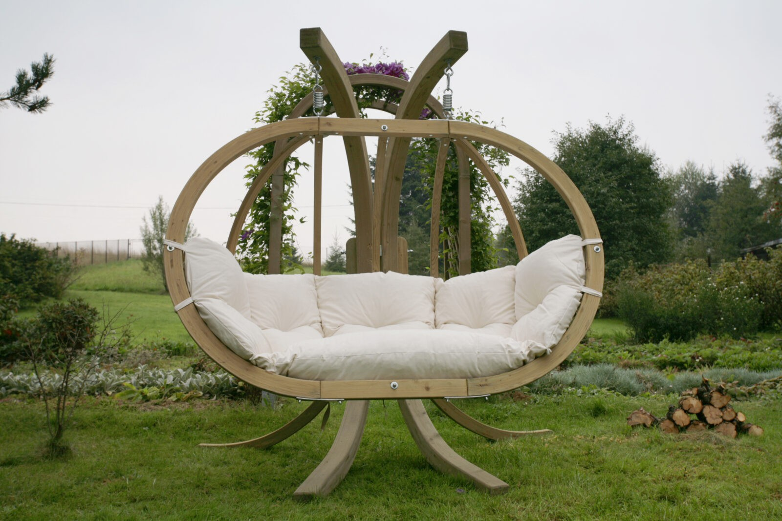Swinging Chair Wooden Swing Pod With Frame Swinging Chair Garden