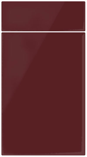 kitchen drawer replacement island granite top high gloss burgundy door finish by homestyle