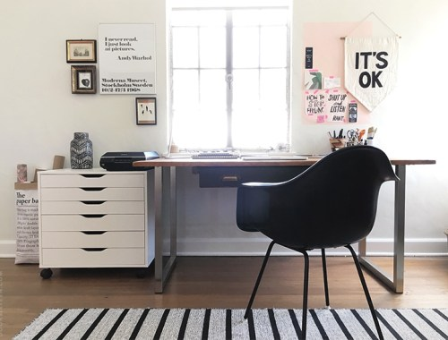 IKEA office makeover - doorsixteen.com