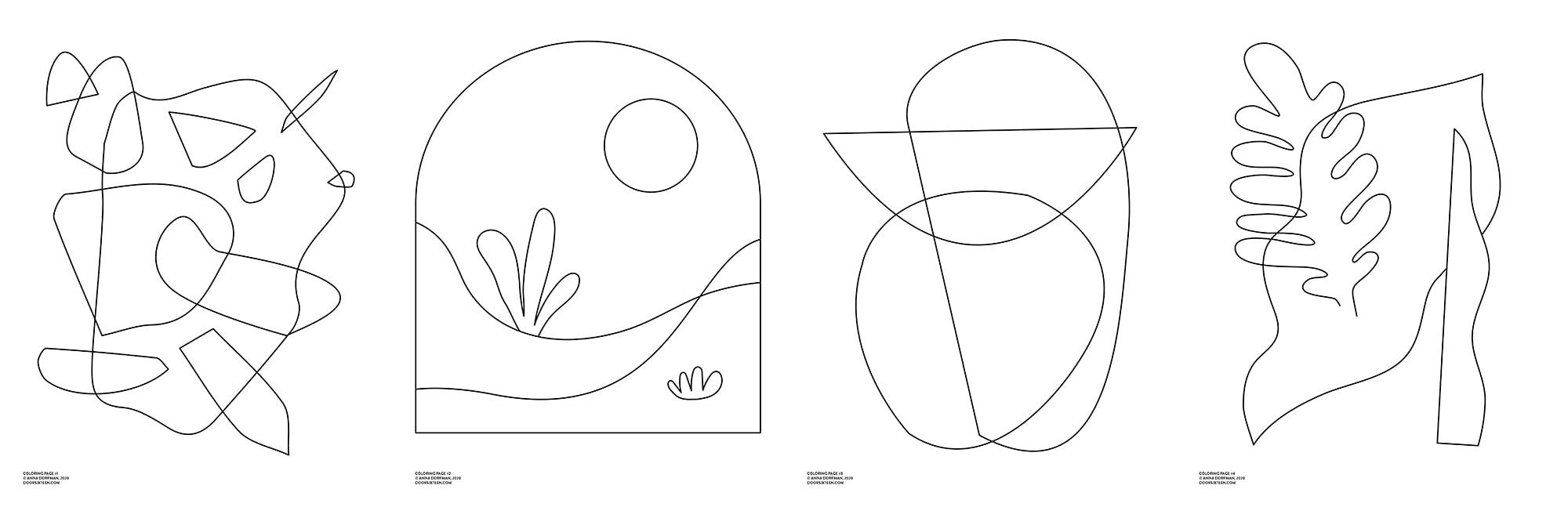 - Free Download! Abstract Coloring Pages. Door Sixteen