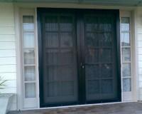 Black double screen doors for french doors | Home Doors ...