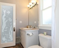Frosted Glass Interior Bathroom Doors Designs to Giving ...