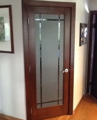 Frosted Glass Bedroom Door For Style & Improve the Look of