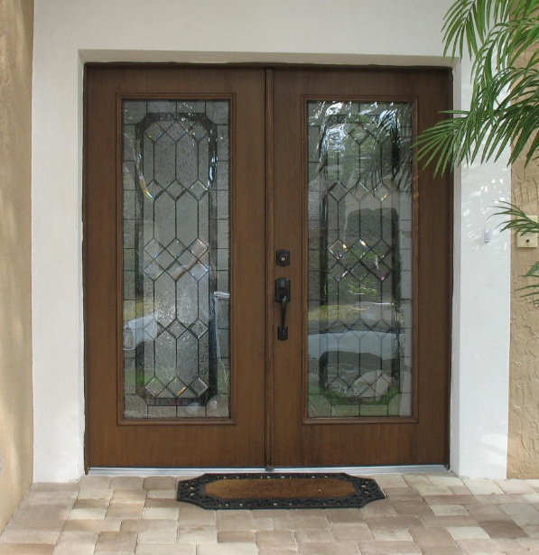 Door Inserts & We Cut These Double Front Doors To Add