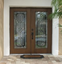 Door Inserts & We Cut These Double Front Doors To Add ...