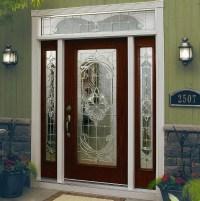 Decorative glass door inserts for single door with