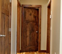 Rustic interior doors with 3 flat panel design | Home ...