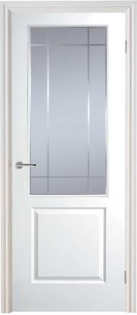 Half Light Manhattan Smooth Moulded White Door