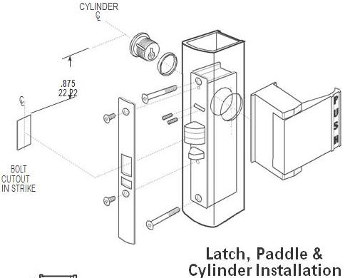 Adams Rite Aluminum Door Deadlatch 4510-313