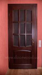 межкомнатная дверь, дверь из ясеня, стекло с фацетом, двери дорвуд