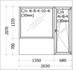 Цена - 675$ - Дверь на балкон с окном