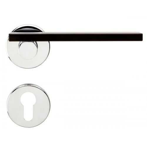 MINIMA комплект ручек с PZ-накладками (хром-черный) 1