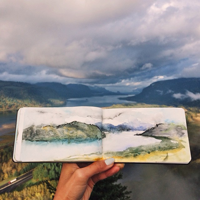 Watercolour-Painting-of-Gorge-by-Hannah-Jesus-Koh-on-Instagram