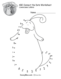 ABC Connect the Dots Worksheet - Doozy Moo