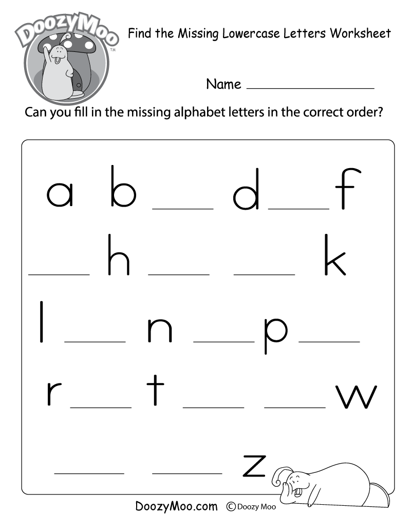 medium resolution of Dot-to-Dot Lowercase Letters Worksheet (Free Printable) - Doozy Moo
