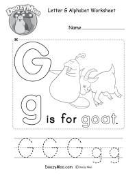 Worksheets For Preschool Letter G Goat. Worksheets. Best