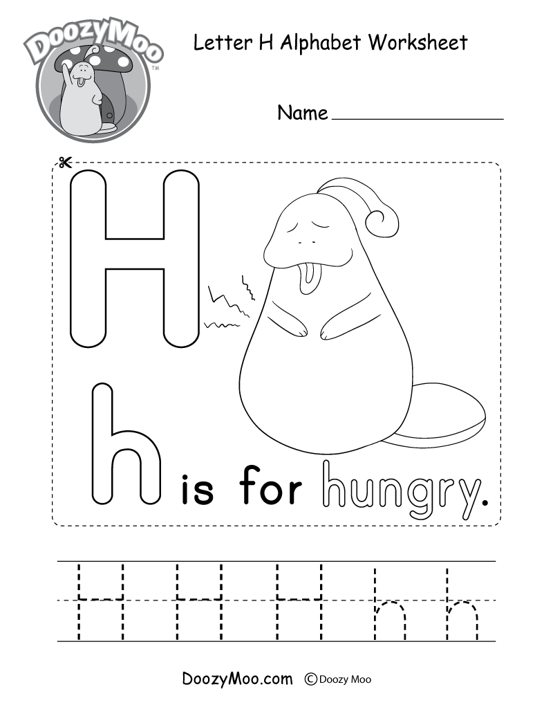 Letter H Alphabet Activity Worksheet Doozy Moo