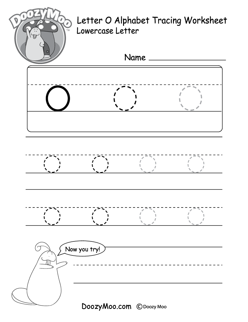 """Lowercase Letter """"o"""" Tracing Worksheet"""