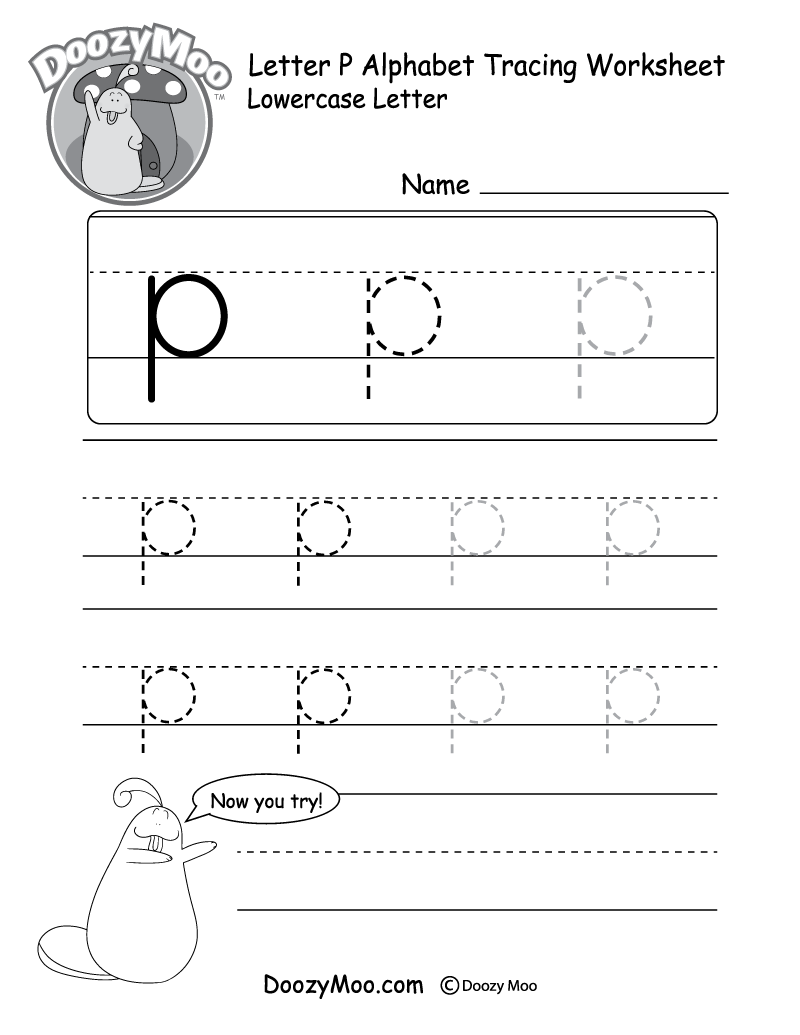 hight resolution of Lowercase Letter Tracing Worksheets (Free Printables) - Doozy Moo
