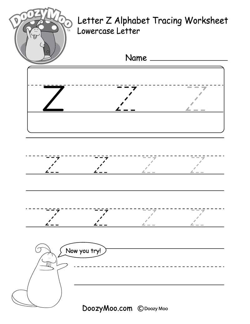 Small Letter A To Z : small, letter, Lowercase, Letter, Tracing, Worksheets, (Free, Printables), Doozy