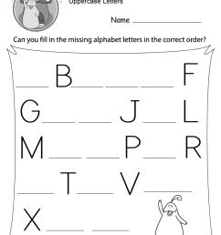 Missing Letter Worksheets (Free Printables) - Doozy Moo [ 1035 x 800 Pixel ]