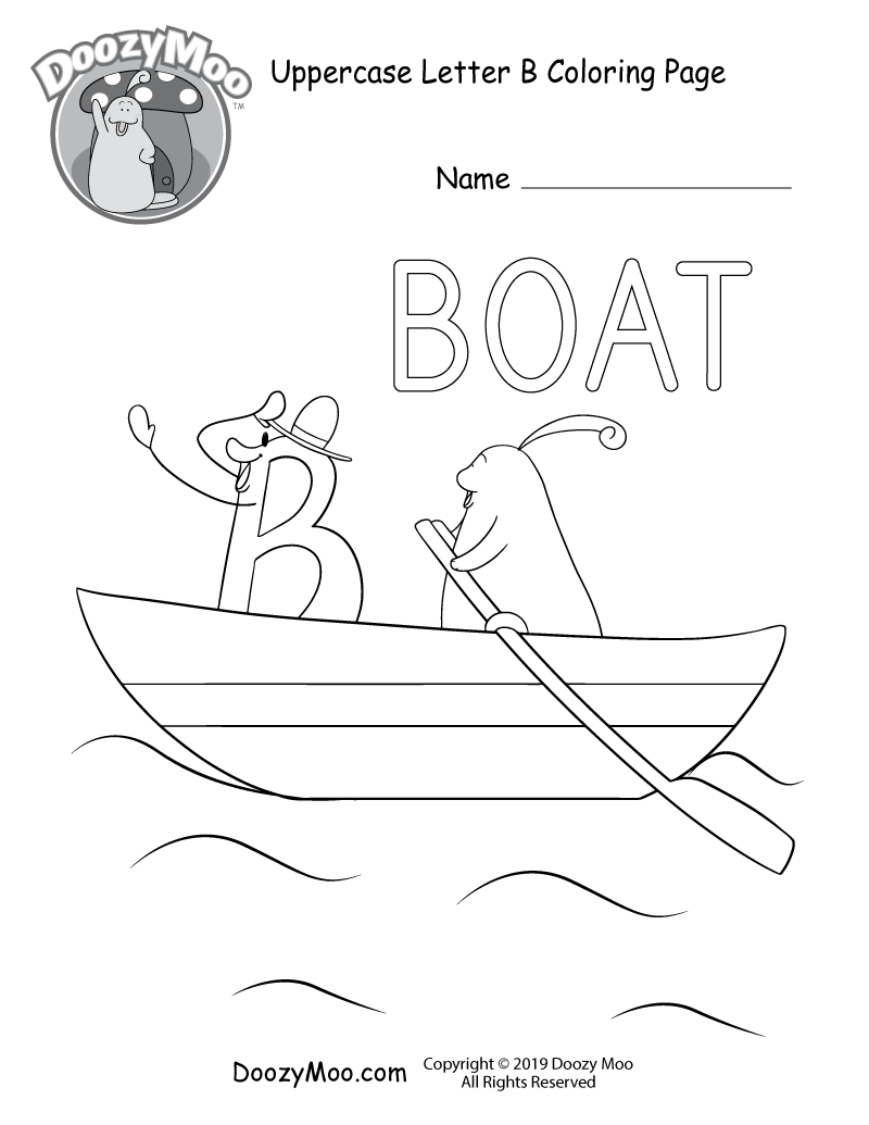 Cute Uppercase Letter B Coloring Page (Free Printable