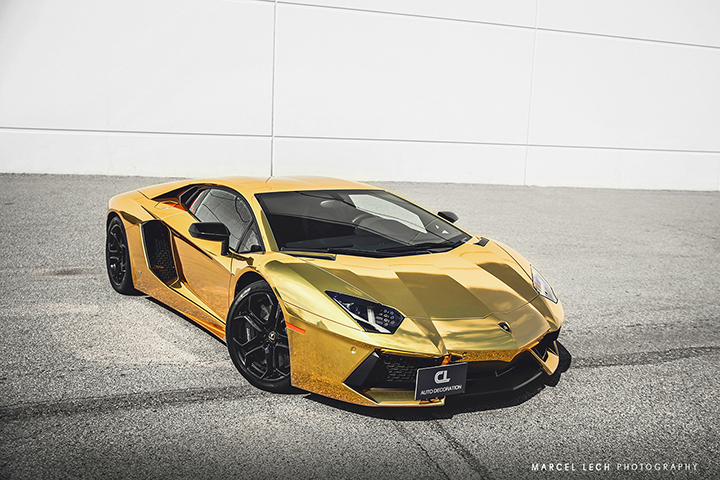 Tianna Gregory Hd Wallpaper Chrome Gold Lamborghini Aventador By Marcel Lechdopamine36