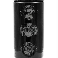 Dope Jars® 1 Liter - Deep Etched Design: Three Wise Monkeys