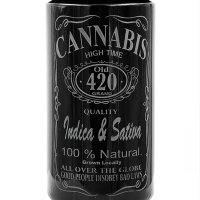 Dope Jars® 1 Liter - Deep Etched Design: Cannabis Design