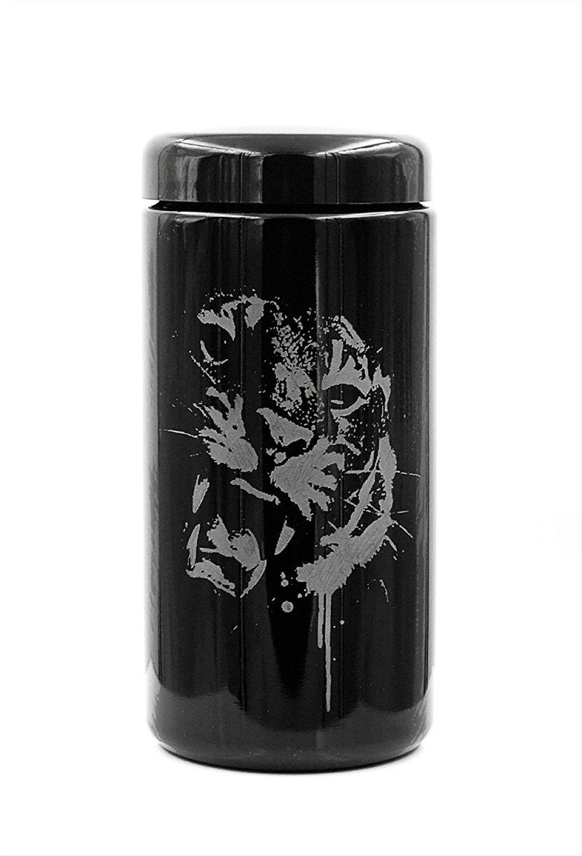 Dope Jars® 1 Liter - Deep Etched Design: Tiger Design