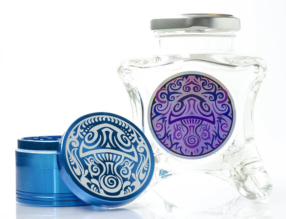 Dope Jars® and Herb Grinder Combo Pack