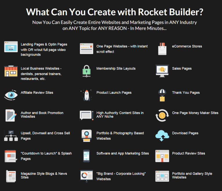 Rocket Builder features