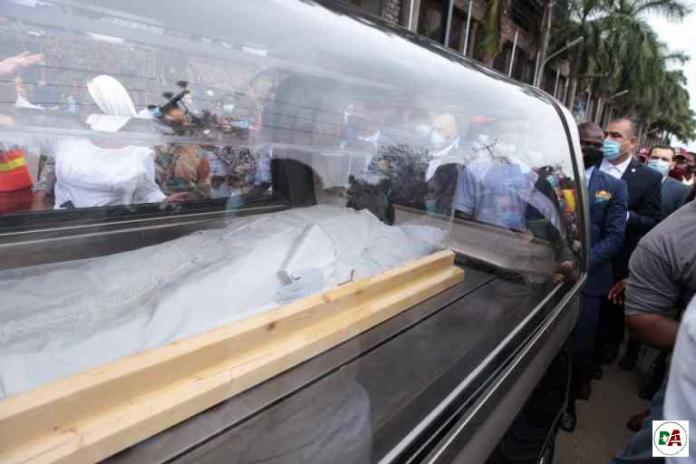 TB Joshua's casket arrives Synagogue Church for lying-in-state