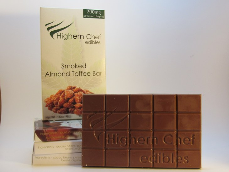 Smoked Almond Toffee Bar by Highern Chef