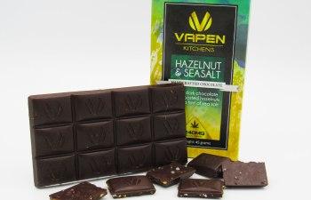 Hazelnut & Sea Salt Chocolate bar by Vapen Kitchens