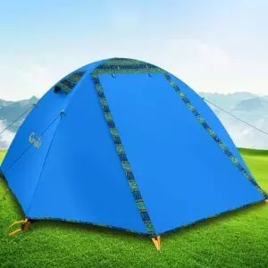 Campla Camping Tent 2 Person 3-4 Season Backpacking Tent Waterproof Lightweight Outdoor Shelter Recreation Tent with LED for Hiking Mountaineering Travel...